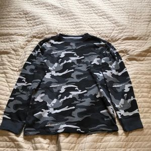 Black Camo Faded Glory Top